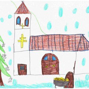 Gyermekrajzok templomunk búcsújára